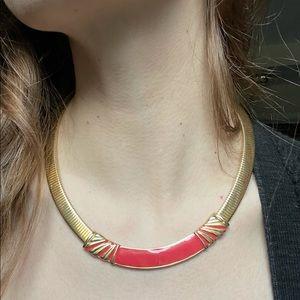Golden Snake Coil Choker Collar Necklace
